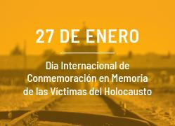 Conmemoración victimas del Holocausto